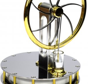 Stainless Steel Stirling Engine, ready to run.