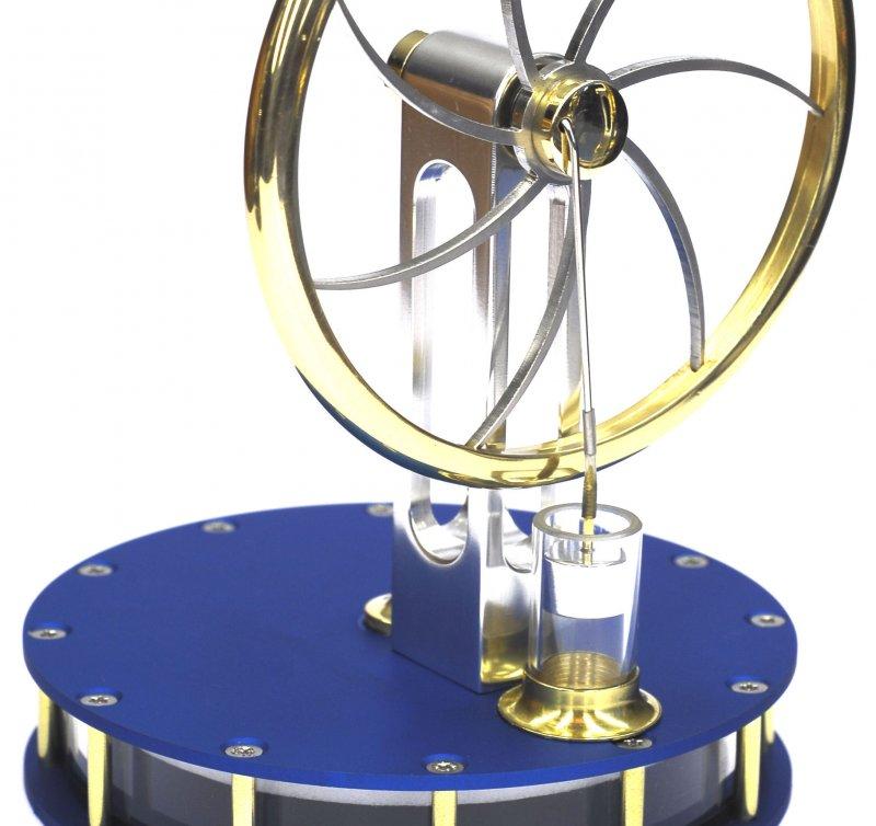 Stirlingmotor, Selbstbau-Kit aus eloxiertem Aluminium